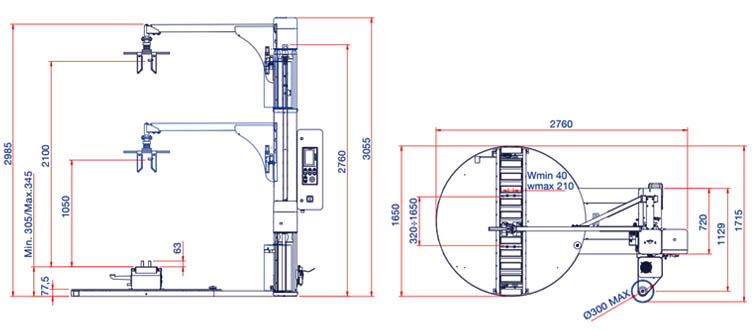 schita masina de ambalat verticala folie stretch rotoplat de - dw/c