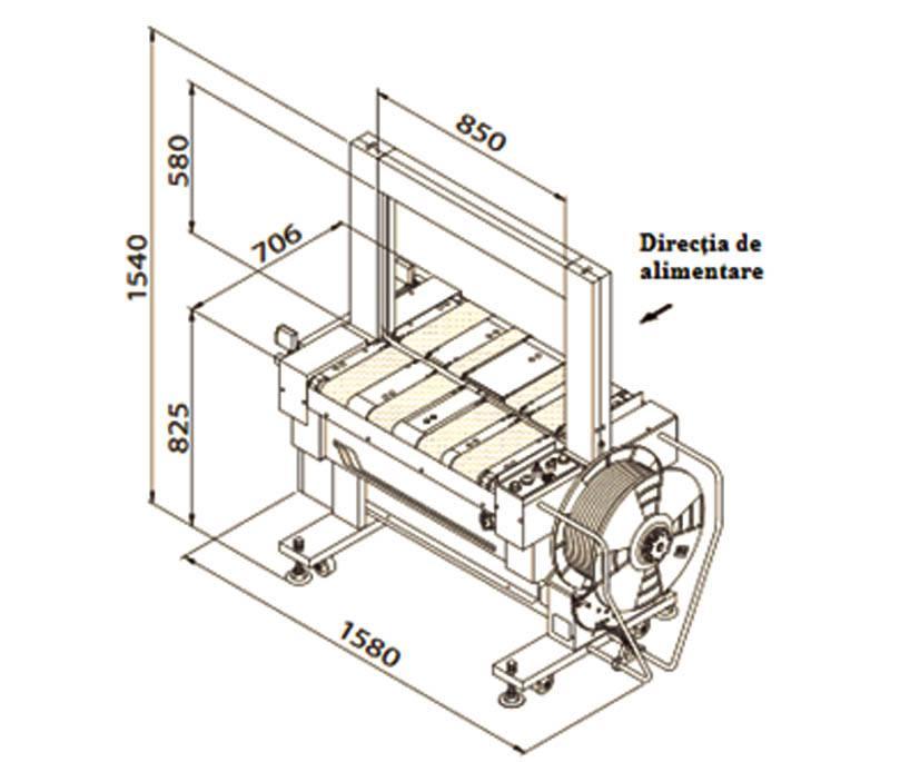 masina de legat automata cu banda polipropilenica 601B