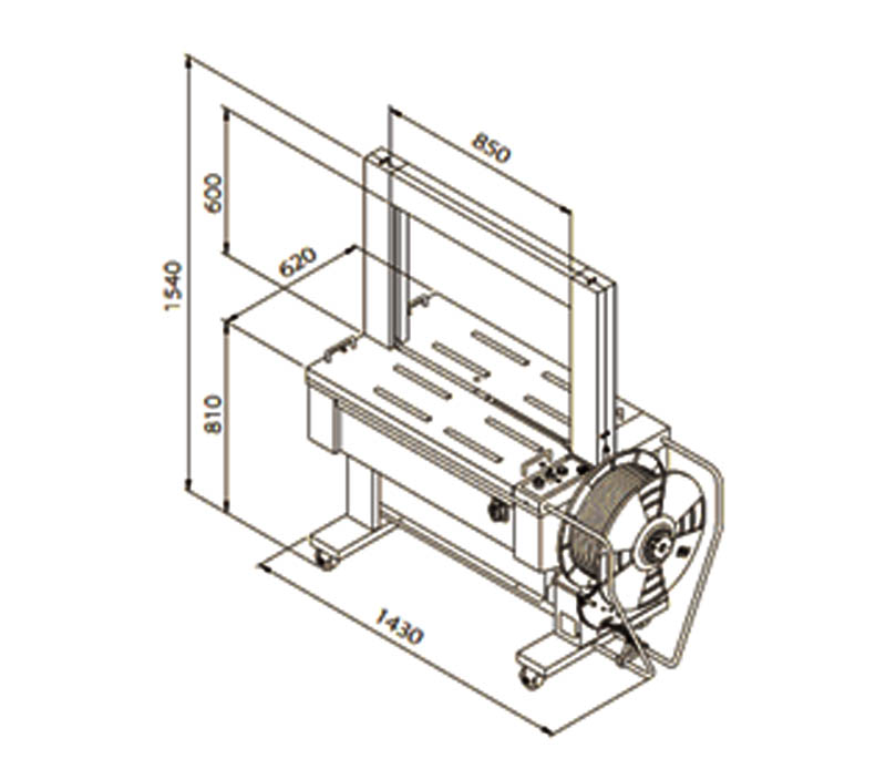 masina de legat automata cu banda polipropilenica 601D