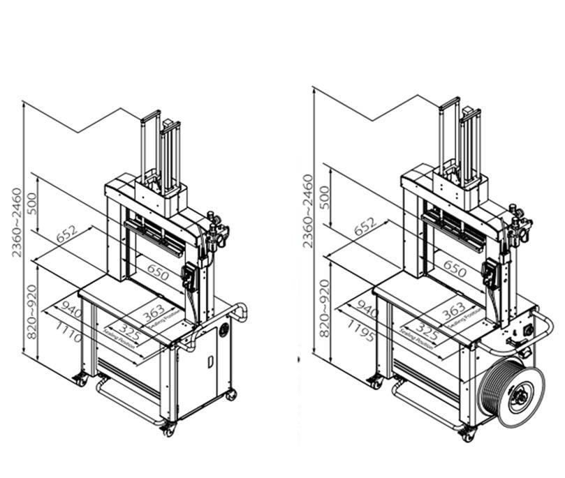 masina de legat automata cu banda polipropilenica 702P